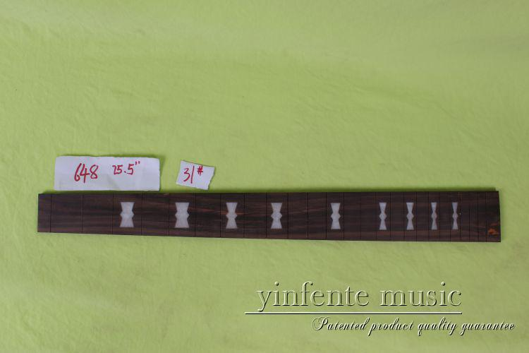 new  high Quality  1 x  25.5   Guitar Fretboard electric guitar rose  Wood Fretboard Parts 31# inlay<br>