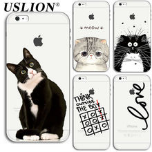For iPhone 7 7 6 6s 5 5s SE Plus Phone Cases Luxury Soft TPU Cartoon Animal Transparent Painting Back Cover Case Capa Coque