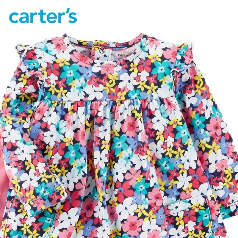 2 pcs Floral Imprimer Flutter Robe et Legging Ensemble de Carter bébé fille vêtements ensembles Printemps D'été 121I333 12