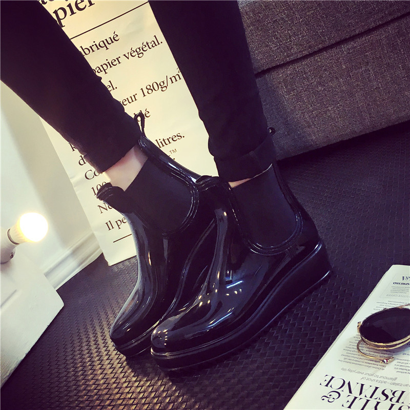 Esdy Spring Autumn Women Rain Boots Waterproof High Women Martin Boots Warm Female Snow Boots Size 35-40 Casual Women Shoes<br><br>Aliexpress