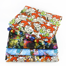 50*145CM patchwork printed fabric cartoon Polyester&cotton for Tissue Kids Bedding home textile for Sewing Tilda Doll,c480