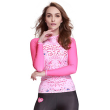 Sbart 2016 new upf50 uv rash guard suit long sleeve rashguard ladies swim shirts competition swim suits rash guard shirts