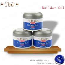 3 color IBD Builder Gel 2oz / 56g - Strong UV Gel Pink Clear White for nail art false tips extension NA394