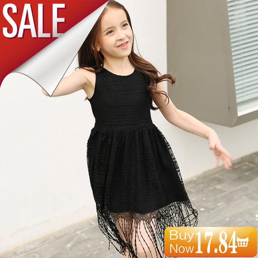 GEMTOT-Big-Girls-Dress-2017-Summer-Black-Lace-Korean-Tassel-Vest-Party-Dress-for-Girls-Kids