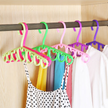 1PC Multifunction Scarf Tie Hanger 7 Ring Hole Heart Shape Clothes Belt Storage Rack Closet Organizer 38.5*18cm