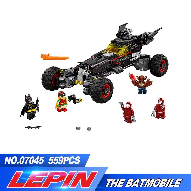 New Lepin 07045 559Pcs Genuine Superhero Movie Series The Batman Robbin`s Mobile Set Building Blocks Bricks Toys 70905<br>