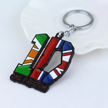 Fashion New Rock Band Jewelry One Direction Keychains Colorful ID Letters Key Chain Ring Best Gift for Fans(China)