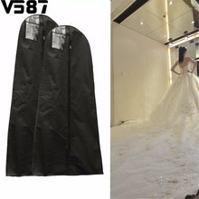 1.6/1.8M Waterproof Wedding Gown Bag Bridal Wedding Dresses Dustproof Protective Cover Home Closet Wardrobe Storage Accessories(China)