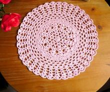New Arrive Hand Crochet Table cloth Round 38CM Round Tablecloths Thicken Cotton Placemats Insulation pad Home Textile(China)
