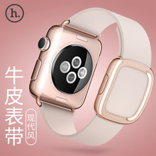 New Design HOCO Modern Buckle Band for Apple Watch Strap Belt Top-grain Leather Bracelet with Magnetic Closure w + Case Cover Fo