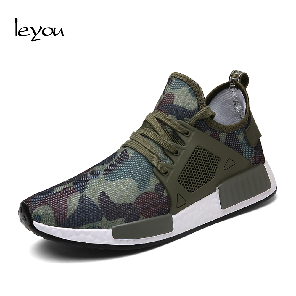 Leyou Outdoor Puls Size Camouflage Shoes Mens Trai...