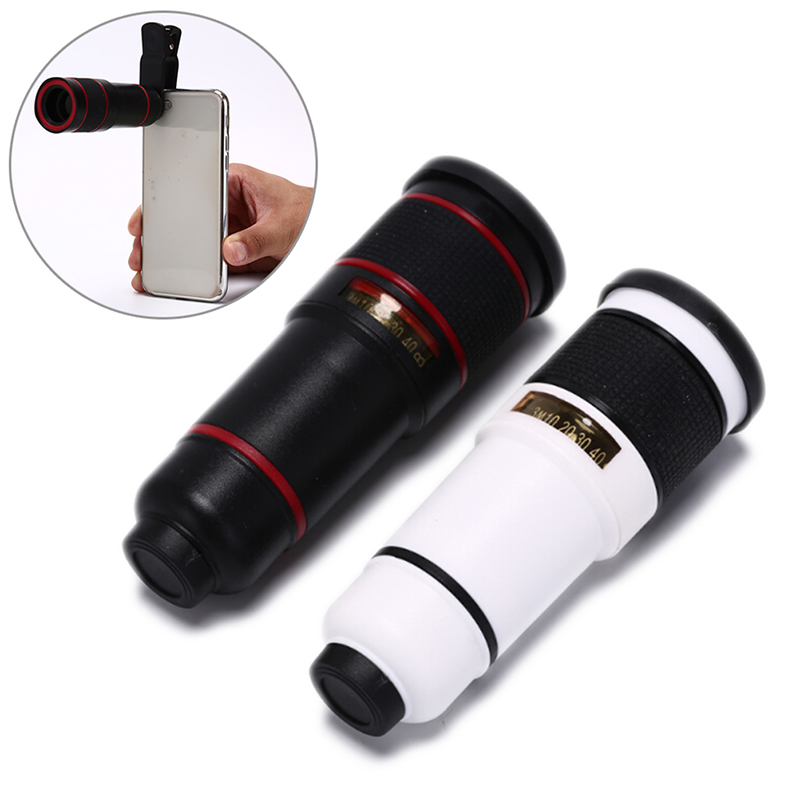 Universal Mobile Phone Telephoto Lens 14X Zoom Optical Telescope Magnifier Camera Lens With Clips For Smartphone