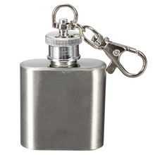 1oz Portable Whiskey Stainless Steel Hip Flask Stainless 304 Hip Flask 28 ml Flachmann Pocket Metal Small Mini Alcohol Bottle
