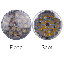TC-X 1 Piece Par36 LED work Light Spot Flood Round Car lights 12V 24V for Off Road 4X4 Tractor Truck ATV Trailers Wholesale(China)