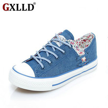 2017 European and American brands autumn new canvas shoes women casual shoes to help low permeability Floral tenis feminino F028(China)