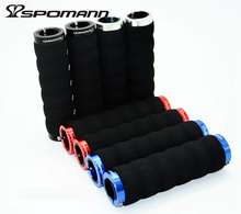 Buy SPOMANN MTB Bike Handlebar Grips Ergonomic Soft Durable Foam Sponge Handle Bar Grips Covers 1 Pair Lockable Bicycle Grip parts for $2.34 in AliExpress store