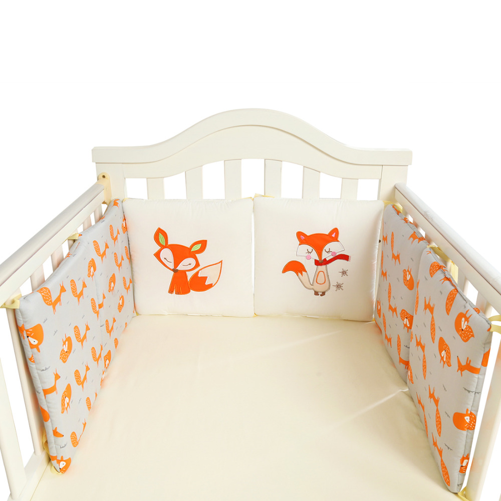 Baby Crib Bumper Nursing Pillow Fox Elephant Baby Bedding Back Cushion Cot Bumper protector Newborn Baby Room Decor 6Pcs/12Pcs