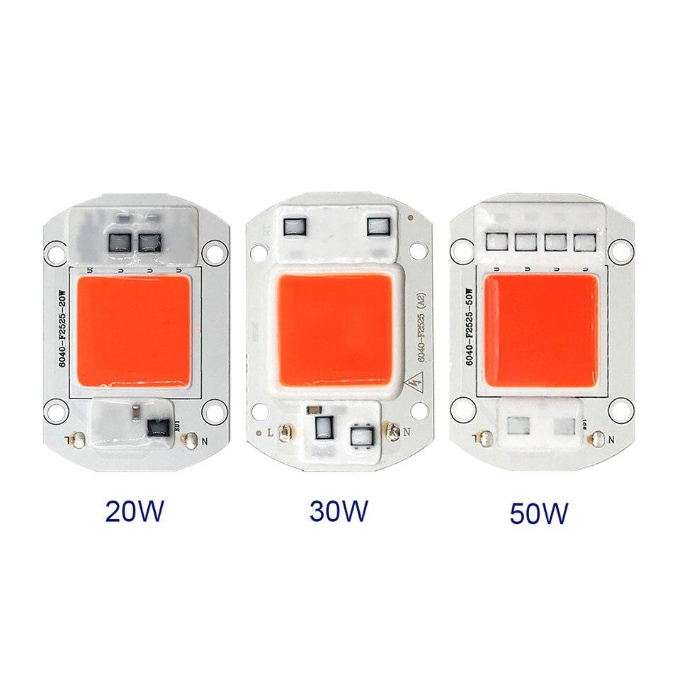 AC 110V 220V LED COB Lamp Chip 20W 30W 50W 100W 150W Full Spectrum LED Plant Grow Light Driverless Smart IC DIY LED Floodlights (5)