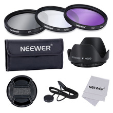 Neewer 52MM Professional Lens Filter Accessory Kit for NIKON D7100 D7000 D5000 D3300 D3200 D3100 D3000 D90 D80 DSLR CamerasKit(China)
