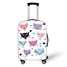 FORUDESIGNS Kawaii 3D Cartoon Cats Luggage Protective Covers Cool Travel Accessories Anti-scratch Elastic Stretch Suitcase Cover(China)