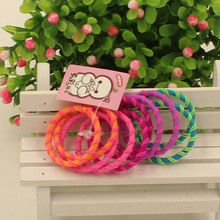 50pcs/lot Super Quality Baby Color Elastics Rubberbands Child Kids Girls' Ponytail Hair Holder Accessories Tie Gum Free Shipping