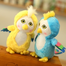 24cm Cute Parrot Plush Toys Colorful Stuffed Animal Powl Dolls Children's Birthday Gift Kawaii Kids Toy Home Shop Decor