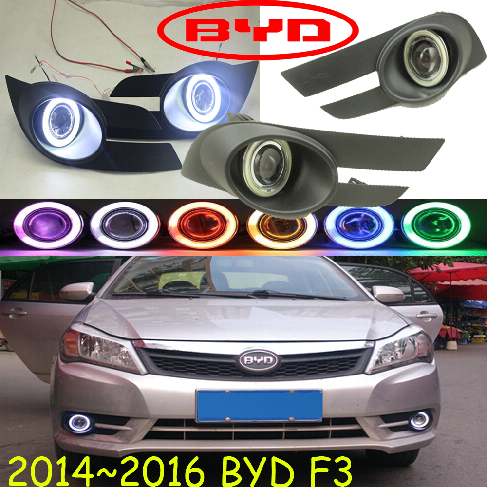Car-styling,BYD F3 fog lamp,2014~2016,chrome,Free ship!2pcs,F3 head light,car-covers,Halogen/HID+Ballast;BYD F3<br>