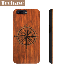 Techase PC Wood Design Phone Cases For Oneplus 5 Case Real Wood Protection Cover For One Plus 3 3T Covers Anti-knock Shockproof(China)