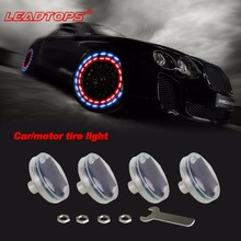Direct Selling 4pcs/lot Stunning Waterproof Solar Car Tuning Gas Nozzle Cap Lamp Rim Light Wind Fire Wheels Led Flash Tyre CE(China)