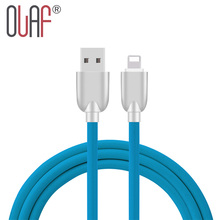 Olaf New 1m USB Cable For iphone TPE Gear wire zinc alloy plug Fast Charging USB Adapter For iPhone Cable Converter USB Charger