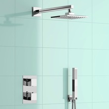 "Square 8"" Mixer Shower Head Concealed Thermostatic Bathroom Diverter SG2003(China)"