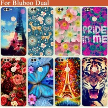 New Perfect Design painted flowers Tige Owl Case for Bluboo Dual Protective Phone Back Cover For Bluboo Dual 5.5'' Cellphone