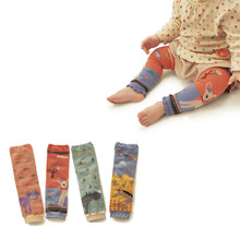 Baby Leg Warmers Socks Kids Safety Crawling Elbow Cushion Infants Toddlers Baby Knee Pads Leg Warmers Animal Print(China)
