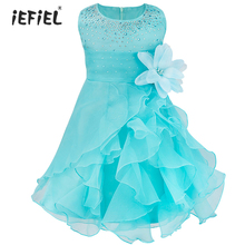 Infant Baby Girls Tutu Princess Birthday Party Baptism Dress Lovely Baby's Sleeveless Organza Tutu Princess Party Dress SZ 3M-3T