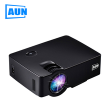 AUN 1800 Lumens Mini Led Projector TV Home Theater Support Full HD 1080p Video Media Player HDMI 3D Beamer AUN Projector Akey-1b