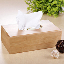Fashion Bamboo Tissue Boxes Case Multifunction Pumping Paper Mapkin Tray Storage Box for Bathroom Kitchen Hall Living Room