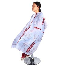 Red Hair Cut Design Salon Apron Hairdressing Cape Barber Nylon Gown Cape Cloth Haircut Waterproof Wrap Cover Hairstyling Tools(China)