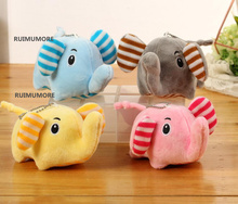 NEW 4Colors- 13CM Sweet Elephants Stuffed Plush Toy Dolls , Gift Keychain , stuffed animal elephant Plush Toy Doll(China)