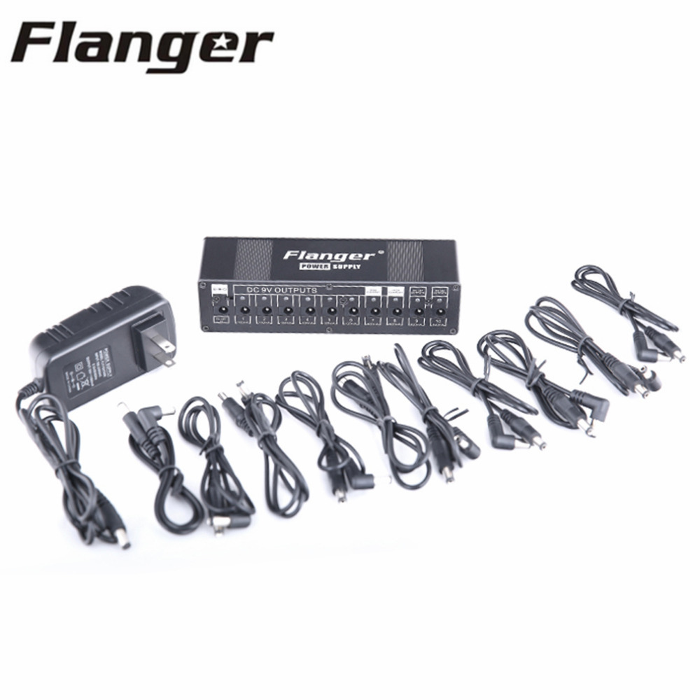 Flanger 10 Outputs DC 9V 12V 18V Guitar Effect Pedal Power Supply Isolated Short Circuit / Overcurrent Protection US Plus<br>