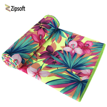 Zipsoft Beach towel flowers Large Microfiber Towel 90*170cm 2017 New Printed Traveling Quick dry Sports Swimming Bath Camping(China)