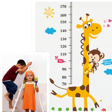 Hot Selling Giraffe Children Room Decor Wall Stikers Kindergarten Height Growth Chart Kids DIY Stickers Rooms/Home Decoration