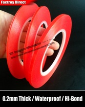 (1mm~5mm Choose) 0.2mm, Red Film Double Sided Adhesive Transparent Tape, High Sticky for iphone ipad  HTC Battery Screen LCD LED