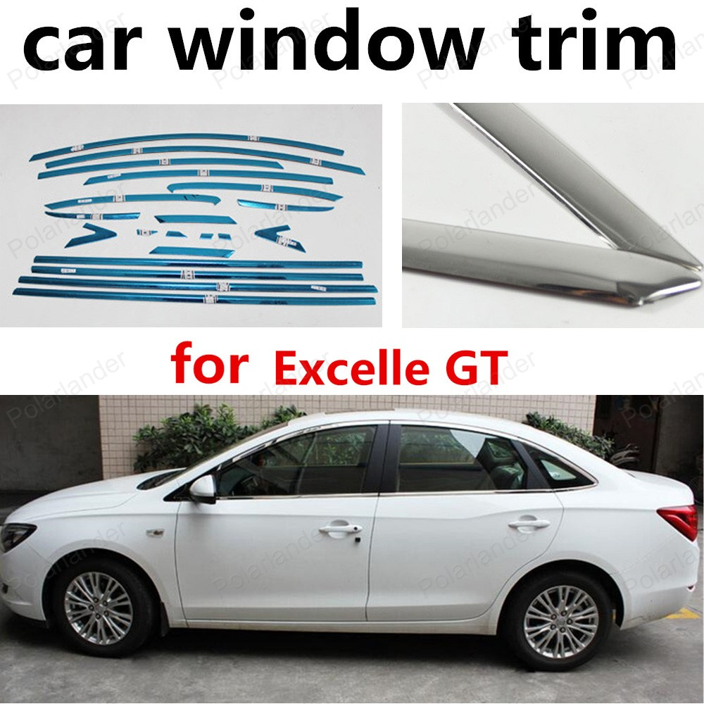 hot!! stainless steel car window trim Decoration Strips without column for Excelle GT 2015 2016<br><br>Aliexpress