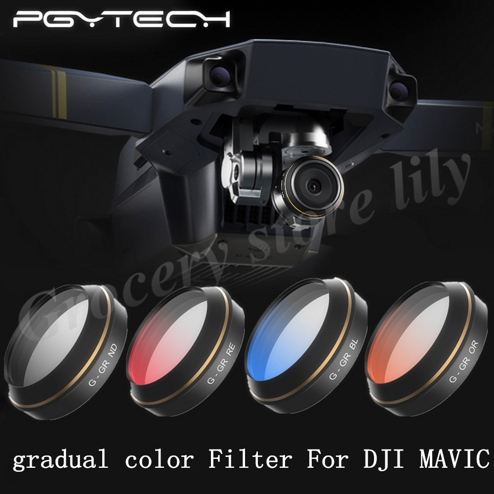 PGYTECH DJI MAVIC Pro Accessories Lens Filters gradual color Filter Drone gimbal RC Quadcopter parts<br><br>Aliexpress