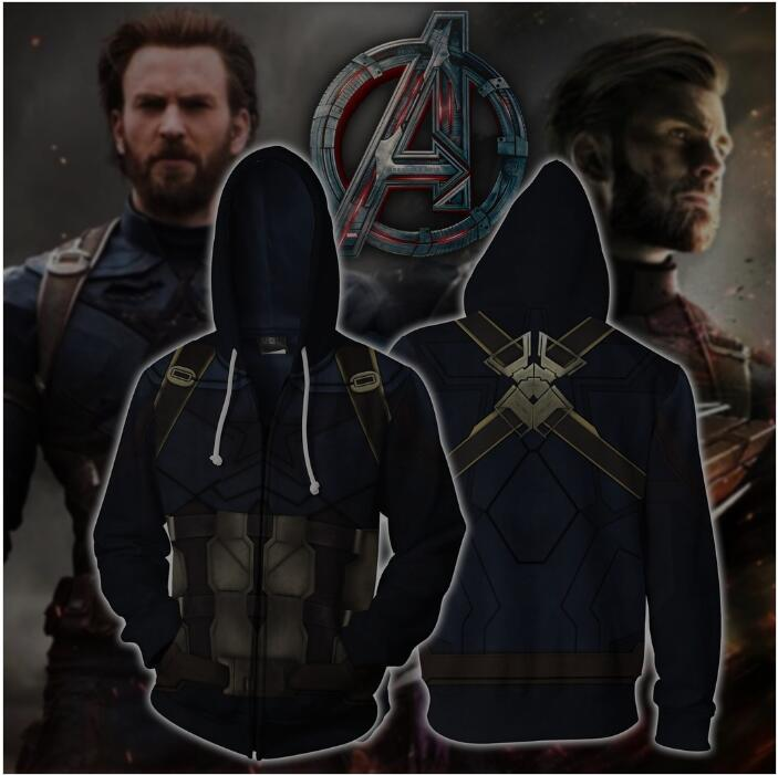 3D Print avengers Captain America Cosplay Zipper Jacket Men Hoodies Sweatshirts Super Hero  Casual Fashion Tracksuit Streetwear
