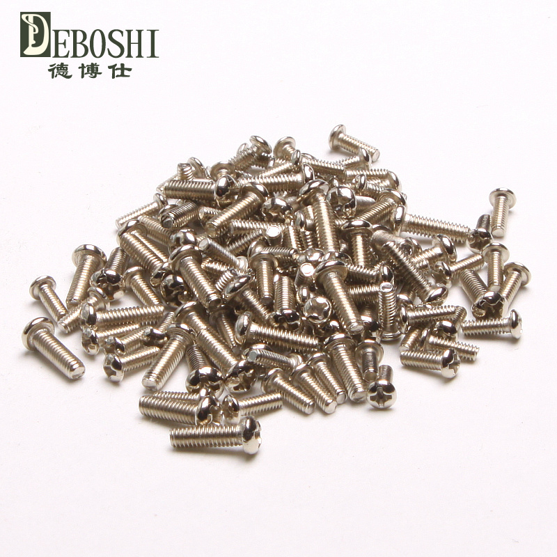 Round Machine Screw PM [nickel] electronic screws micro screws M1.4 *10<br><br>Aliexpress