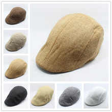 1Pcs Mens Vintage Herringbone Flat Cap Peaked Riding Hat Beret Country Golf Hats(China)