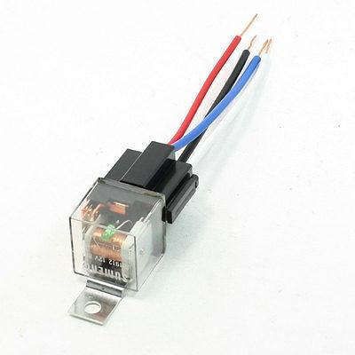 DC12V 80A 4P Female Socket 4 Wires Green Indicator N/C SPST Car Relay 10 PCS<br>