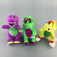 "3 pcs/Lot 7"" 20cm Barney and Friend Baby Bop BJ Benny Purple Barney Plush Toy Cartoon Soft Doll Great Child Gift"