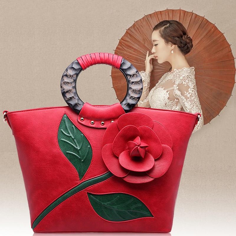 Womens handbag the wedding bags 2016 spring and summer red flower bag handbag bridal one shoulder cross-body bag<br><br>Aliexpress